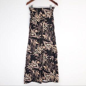 Asos Leafy Fern Strapless Maxi Dress